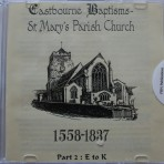 Eastbourne Baptisms. St Marys 1558-1837 E to K