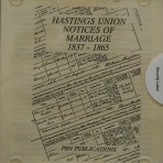 Hastings Union notices of Marriages 1837-1865
