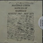 Hastings Union notices of Marriages 1865-1879