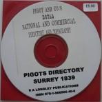 Pigots 1839 Surrey Directory