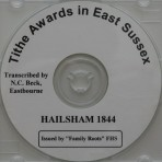 Hailsham Tithe Awards  1844