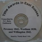 Willingdon(1842) Westham(1838) & Pevensey(1842) Tithe Awards
