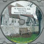 St. Simon & St. Jude East Dean Memorial Inscriptuions